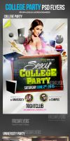 College Party PSD Flyer Template by ImperialFlyers