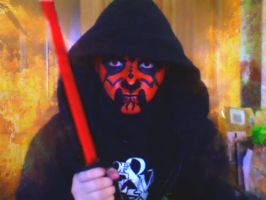 Darth Maul Face Paint by MonteyRoo