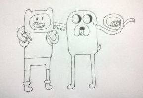 Adventure Time, Finn and Jake by mariolatino100