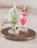 Green Tea with Ice cream by PetitDeCherries