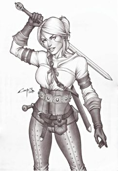 CIRI (the witcher), COMMISSION DONE !!! by carlosbragaART80