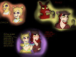 5 Nights @ Freddy's: Chica + Foxy by PurfectPrincessGirl
