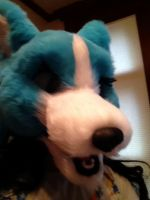 Awful picture of my wip fursuit by GhostKoMochi