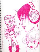 Pink Pen Punk Power by angst-induced-art