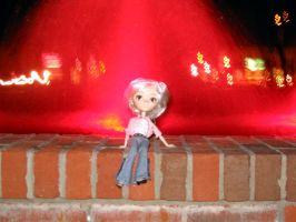Astrid at the Fountain by belladonnadwale