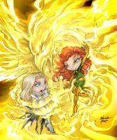 Phoenix White Queen color by Corsariomarcio