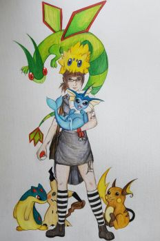 pokemon trainer by Polkadotdiva