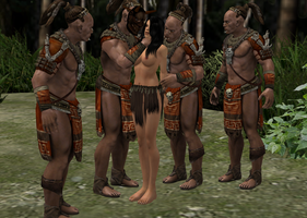 Anja getting captured and bound by dim1988