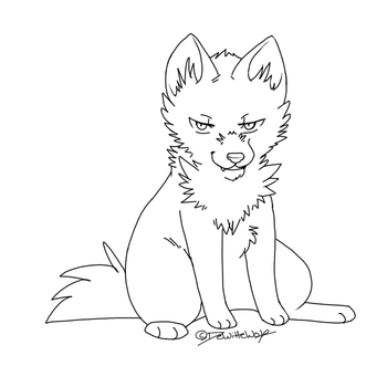 evil puppy lineart by CoffeeFuel