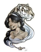 Jasmine and Rajah by AdamWithers