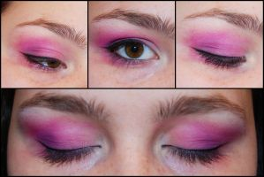 Warm Pink and Purple Make Up by Kritschie