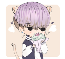 Taehyung and flowers~ by Niroii