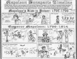 Napoleon Timeline Assignment (front) by NOTEBLUE13