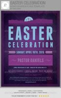 Easter Celebration Church Flyer Template by loswl