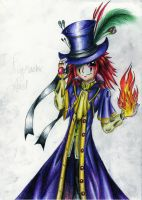 Ringmaster Axel, coloured by BlueStripedRenulian