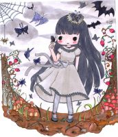 butterfly goth loli by Animecakie