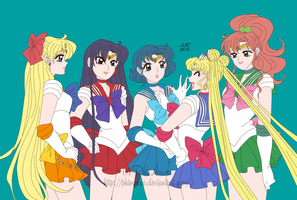 Redraw: Inner Senshi by PhiMouse