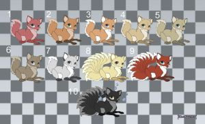 [Closed] Adoptables: foxes by MySweetQueen