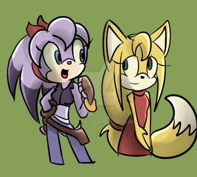 Perci and Zooey by Dorkeus