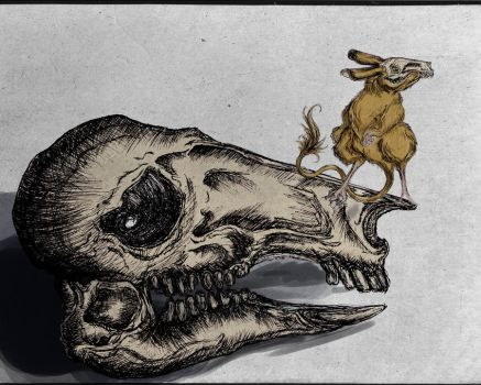 Skull and Mouse by Tsuki-pei