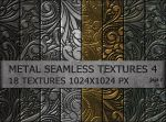 Metal seamless textures pack 4 by jojo-ojoj