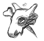 Cubone Head and Club by JackHacked