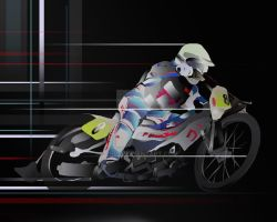 Design for motorcycle racer by Jniq