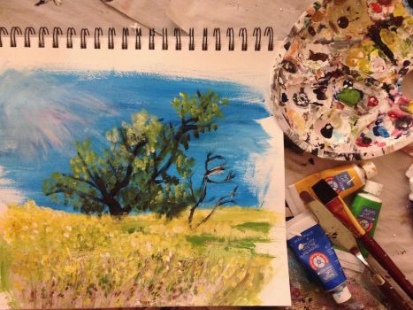 Where the Mustard Flowers Grow-A Painting for Ro by goshilpa
