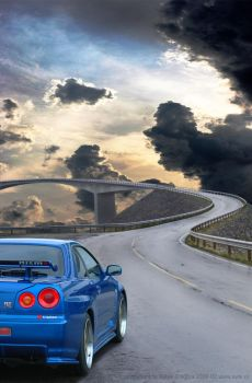 Road to heaven : r34 GTR by Vipervelocity