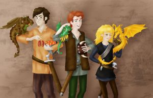 Hiccup and Co. in color by Hollyboo2001