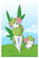 SHAYMIN MORNING WALK by PEQUEDARK-VELVET