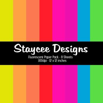 Fluorescent Paper Pack by StacyO