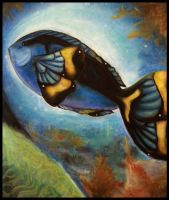 Butter-fish Blue Tang by Tiny-Owl