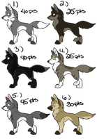 .: Canine Point Adopts: ALL GONE! :. by BeachBumDunkin