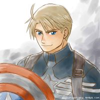 Capt America by randomsketchez