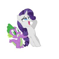 Rarity and Spike by FinnishGirl97