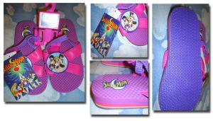 Sailor Moon Flip Flops by Magical-Mama