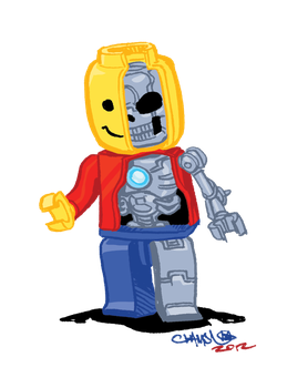 Beneath a minifig by theCHAMBA