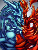 Re:Blue-red Dragon by Gintara