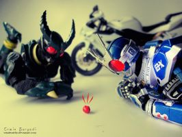 kamen rider Gill and G3-X by WINDEARTFLY