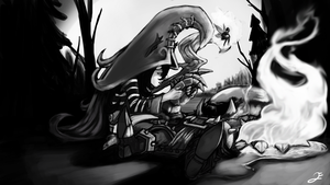 Lulu comforts Veigar (FINISHED!!) by jonnyelart