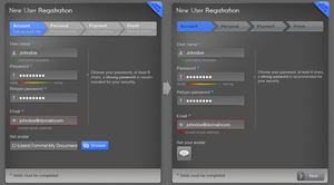 Multi Step Dark Signup Form by tommiek