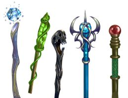 Magic Staves by Zubby