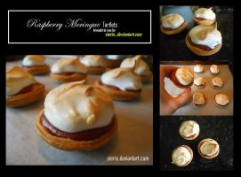 Raspberry Meringue Tarlets by Sierie