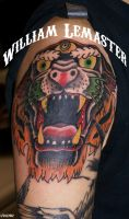 Tiger Panther Hybrid Cover-up by SmilinPirateTattoo