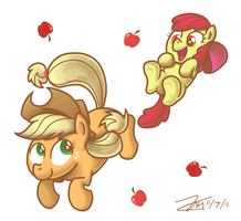 Free Fallin' Apples by Zicygomar