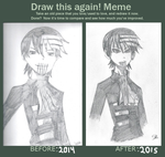 *Draw this again meme: Madness- Death the Kid* by Sartisian