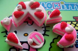 Strawberry cakes -xblackribbon by Cute-Craft