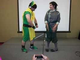 CTcon '12 - Ember Island Toph and Bolin by TEi-Has-Pants