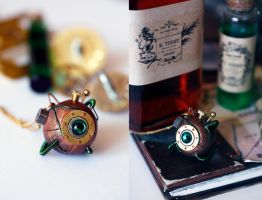 """Willow""  Steampunk pendant by Catarios"